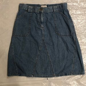 Christopher & Banks Denim Skirt. Size 8